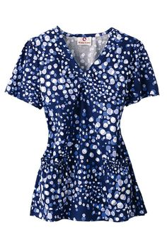 White Cross Spotted Melody v-neck scrub top. - Scrubs and Beyond #scrubs #uniforms #nurse
