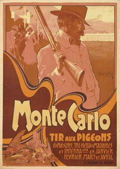 """Monte Carlo/Tir Aux Pigeons"""" by Adolfo Hohenstein, 1900. $3,360"""