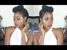 EASY UP DO ON NATURAL HAIR   1950's INSPIRED//CHIC MO'NIQUE - YouTube