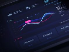 Dribbble - Dashboard Dark Material by Gleb Kuznetsov✈