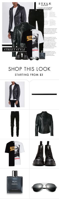 """Untitled #963"" by www-gufi on Polyvore featuring Merola, AMIRI, Versace, Topman, Dr. Martens, Chanel, men's fashion and menswear"