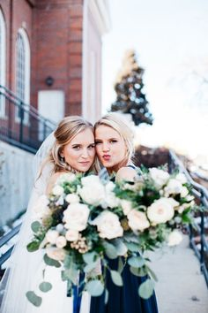 840cdd14be Beautiful Bride and Maid of Honor Photo ideas - wedding pictures Sister  Wedding Pictures