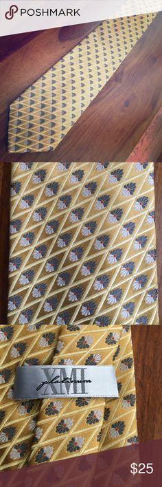 XMI Tie Like new. Gold, yellow, gray, silver & orange. XMI Accessories Ties