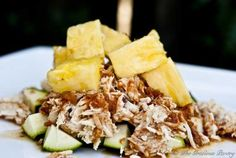 clean eating slow cooker pineapple chicken with zucchini