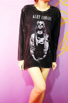 531535ae Kurt Cobain Nirvana Outfit, Nirvana Shirt, Tumblr Fashion, Grunge Fashion,  90s Fashion