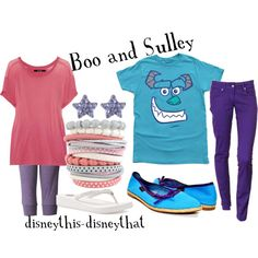 Boo and Sulley, created by disneythis-disneythat