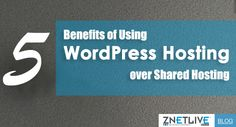 Should I go for shared hosting or for WordPress hosting?  If this is the question you're pondering over then read our new blog and know 5 benefits that WordPress hosting provides over shared hosting.  https://blog.znetlive.com/5-benefits-of-using-wordpress-hosting-over-shared-hosting-for-your-wordpress-siteblog/