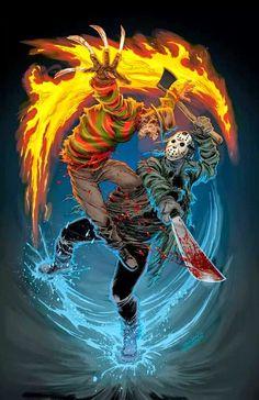 . Jason Voorhees, Slasher Movies, Horror Movie Characters, Horror Movies, Freddy Krueger, Arte Horror, Horror Art, Robert Englund, Culture Pop
