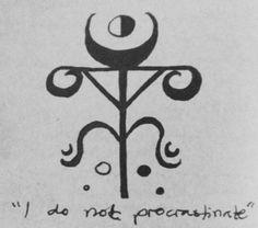 I do not procrastinate sigil