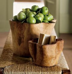 Hand-Carved Wood Vessel - contemporary - tabletop - Pottery Barn