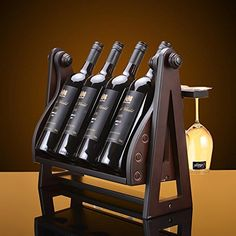SUDA Swing solid wood wine rack wine wine rackshome decoration >>> Continue to the product at the image link. (This is an affiliate link) Wood Wine Holder, Wood Wine Racks, Wine Rack Wall, Wine Glass Holder, Wine Bottle Holders, Hotel Toiletries, Shop Shelving, Home Bar Areas, Pallet Wine