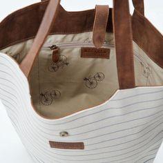 Canvas basket bag by meckela