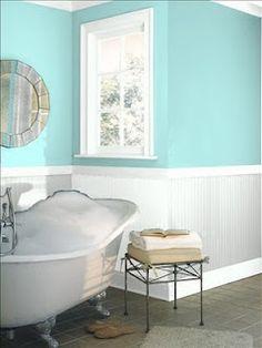 Jamaican aqua benjamin moore basement benjamin moore for Jamaican bathroom designs