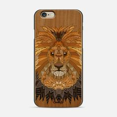 Check out my new #wooden #phonecase #iphone @Casetify get $10 off using code: BU6UXK #myartlovepassion #lion #king
