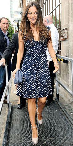 Mila Kunis // Oscar de la Renta dress // London for Friends With Benefits promo