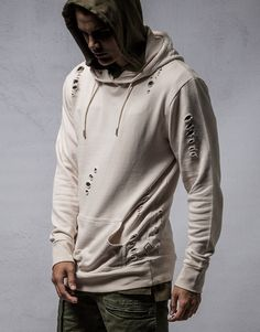 Absent Ambushed Destroyed Hoodie | Men's Hoodies & Sweatshirts | Hallenstein  Brothers