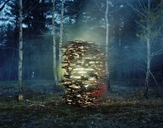 Light Sculpture by Thomas Jackson Artistic Photography, Art Photography, Dark Tree, Jackson's Art, Fantasy Landscape, Photo Illustration, Illustrations, Urban Art, Art Google