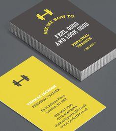 Personal Trainer Business Card Design | Design | Pinterest ...