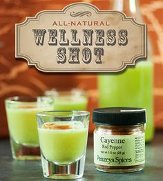 "DIY:   Feeling under the weather?  How To Make An Awesome All-Natural ""Wellness Shot""."