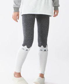 Legging polar caturday - Partes de Abajo - Tendencias AW 2016 en moda de mujer en Oysho online: ropa interior, lencería, ropa deportiva, pijamas, moda baño, bikinis, bodies, camisones, complementos, zapatos y accesorios.