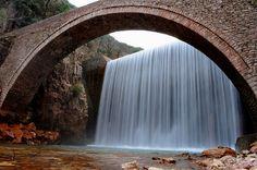 Waterfall at palaiokaria
