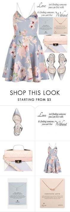 """""""Pink and blue"""" by theapapa ❤ liked on Polyvore featuring Miu Miu, Dorothy Perkins and Dogeared"""