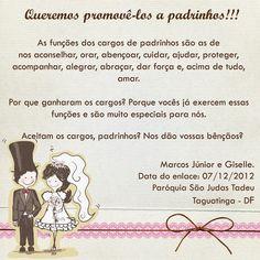Convites de Casamento para Padrinhos