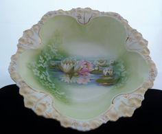 RS Prussia Serving Bowl Reflecting Water by PattycatsTreasures, $150.00