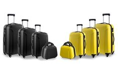 #Set 4 bagagli in abs disponbile in 3 colori a  ad Euro 119.90 in #Groupon #Bags