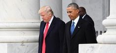 FILE PHOTO - U. President Donald Trump and former President Barack Obama walk out of the East front prior to Obama's departure from the 2017 Presidential Inauguration at the U. Capitol in Washington Barack Obama, Malia Obama, Donald Trump, First Animation, Trump Tower, James Madison, Climate Action, Obama Administration, Former President