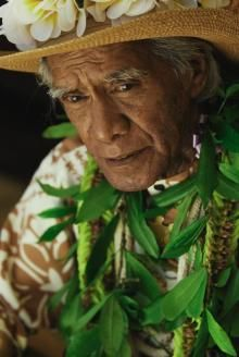 Kumu Hula Uncle George Na'ope - founder of the Annual Merrie Monarch Hula Festival of Hilo, Hawaii