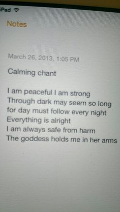 Calming chant Wicca Witchcraft, Pagan Witch, Wiccan, Witches, Witch Names, Everything Will Be Alright, I Am Strong, Warrior Women, Spiritual Life