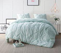 Hint of Mint Pin Tuck Twin XL Comforter Dorm Essentials Dorm Bedding Twin XL Bedding