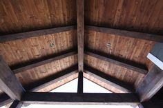Custom Stained T&G Pine Soffits with Timber Accents