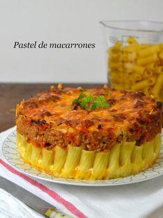Pastel de macarrones con carne | Cuuking! Recetas de cocina