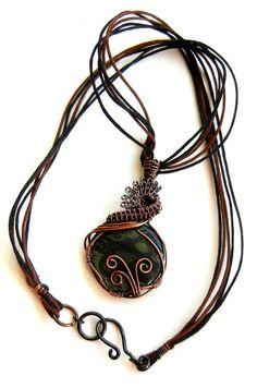 Amazing Kambaba Jasper Wire Wrapped Pendant by LeahHoffmanJewelry SOLD