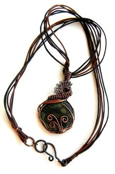 Amazing Kambaba Jasper Wire Wrapped Pendant by LeahHoffmanJewelry SOLD