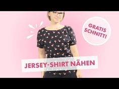 Nähanleitung Jersey T-Shirt in 10 Minuten mit Overlock oder Nähmaschine - kostenloses Schnittmuster! - YouTube Sewing Patterns Free, Free Sewing, Sewing Projects, Projects To Try, Shirts, Stitch, Youtube, Tips, Crafts