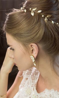 bridal Hair accessories  wedding bridal tiara by Ayajewellery, $88.00