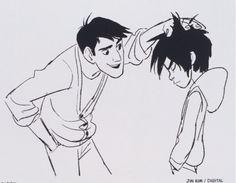 Hiro Hamada and Tadashi in Big Hero 6 concept art Fantasy Character, Kid Character, Character Design, Otto Schmidt, Disney Concept Art, Disney Fan Art, Cthulhu, Zbrush, Concept Art Landscape