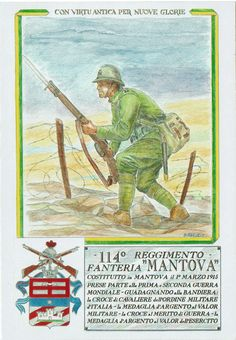 cartolina - 114° reggimento fanteria Mantova