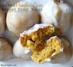 Pumpkin Spice Glazed Donut Holes recipe
