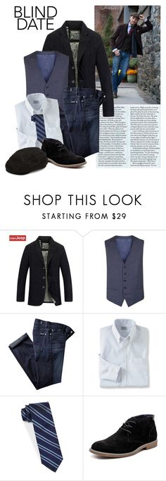"""Perfect 10"" by joyfulnoise1052 ❤ liked on Polyvore featuring 7 For All Mankind, L.L.Bean, BLACK BROWN 1826, Hush Puppies, Crown Cap, men's fashion, menswear and blinddate"