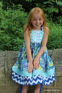 A personal favorite from my Etsy shop https://www.etsy.com/listing/462699901/boutique-girls-royal-floral-mint-chevron
