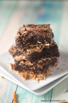 Pretzel Crusted Fudgy Peanut Butter Brownies from @Bethany Raybourn In My Oven