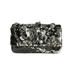 A rare, limited edition piece, this Summer Night Flap Bag from Chanel features the classic flap style that closes with a magnetic button and is designed with intricate sequin detailing throughout its exterior and an adjustable interwoven black leather and silver toned metal chain. It features a leather base, fabric lined interior and has 1 zippered interior pocket.   | Comes with authenticity card.  | Measurements: 27cm (length) x 15cm (height) x 7cm (depth).  | Original Retail Price: 3100…