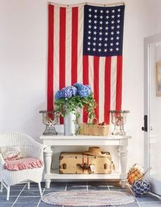 nautical and Patriotic decor | What gives this entryway, featured at Veranda , nautical appeal are ...
