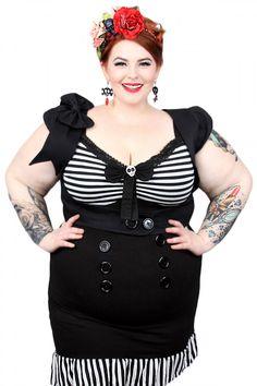 Jessica Louise Women's Plus Size Sailor Dress