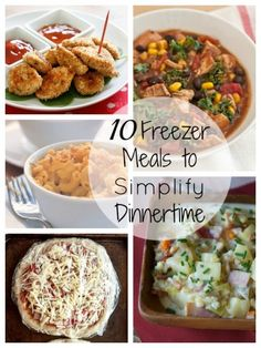 Make these meals on a weekend and freeze to be ready for busy weeknight meals. Try these 10 Freezer Meals to Simplify Dinnertime via Make Ahead Freezer Meals, Freezer Cooking, Easy Meals, Freezer Paleo, Weeknight Meals, Crockpot Recipes, Cooking Recipes, Healthy Recipes, Freezer Recipes