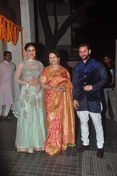 Royal reception: The Khans received the guests at their Mumbai residence